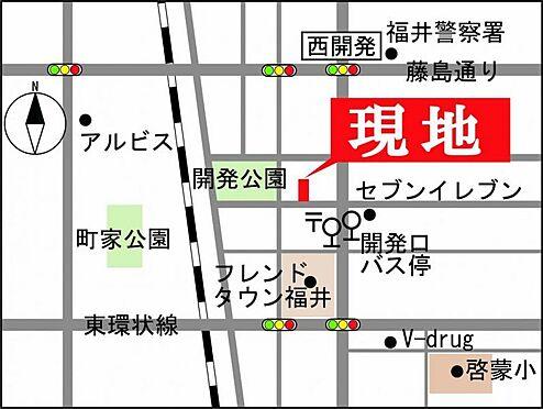 マンション(建物一部)-福井市西開発3丁目 地図