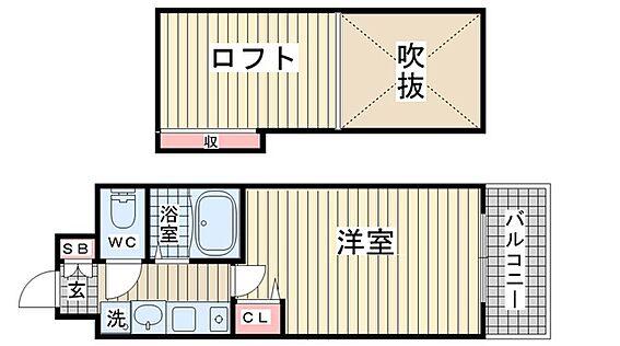 マンション(建物一部)-神戸市中央区脇浜町3丁目 人気のロフトがあるプラン