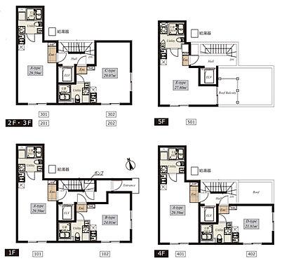 マンション(建物全部)-大田区大森北5丁目 間取り図/総戸数9戸のマンションです