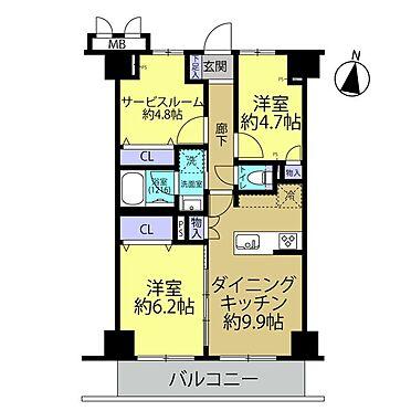 中古マンション-相模原市緑区橋本3丁目 間取図
