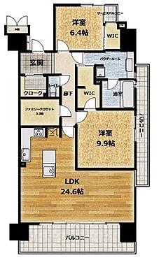 中古マンション-豊田市小坂本町5丁目 専有103.69平米、2LDK+WIC+ファミリークローク