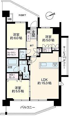 区分マンション-浦安市北栄2丁目 南東・北東の角住戸、陽当たり・通風良好