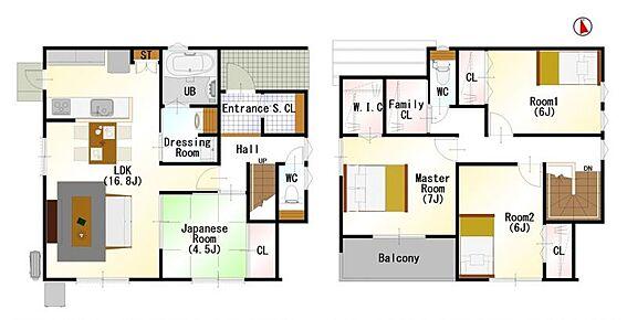 戸建賃貸-刈谷市半城土中町3丁目 間取りは生活のしやすさを重視。家族みんなが気持ちよく過ごすための構造と使いやすい間取りを実現。