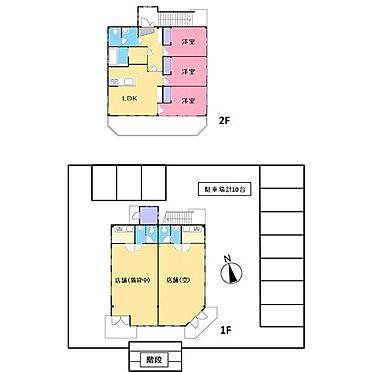店舗付住宅(建物全部)-浜松市西区大平台3丁目 間取り