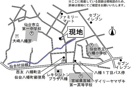 アパート-仙台市青葉区八幡4丁目 案内図