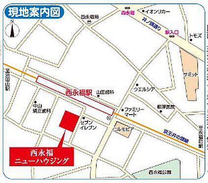店舗事務所(建物一部)-杉並区永福3丁目 地図