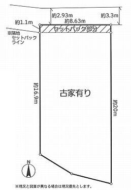 土地-墨田区八広4丁目 区画図