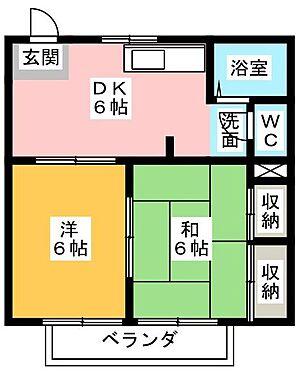 アパート-掛川市下垂木 間取り