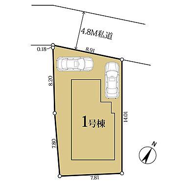 新築一戸建て-町田市小山町 大型車2台駐車可能