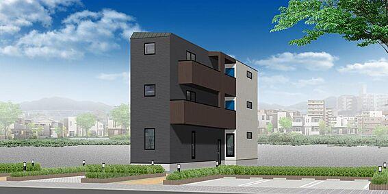 アパート-名古屋市西区則武新町2丁目 外観パース ※配色等、変更になる可能性もございます。