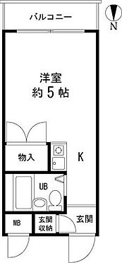 区分マンション-大田区山王4丁目 間取り