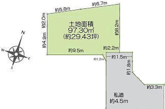 土地-足立区西伊興4丁目 区画図