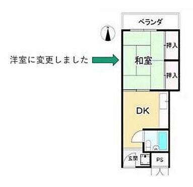 区分マンション-大阪市北区本庄東2丁目 間取り