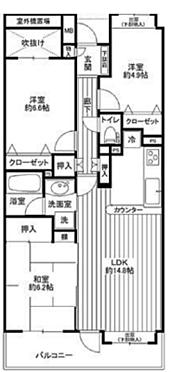 マンション(建物一部)-川崎市麻生区高石6丁目 間取り