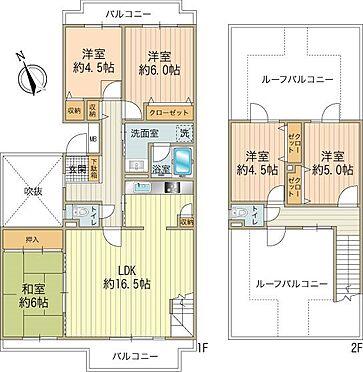 中古マンション-八王子市上柚木3丁目 メゾネットタイプで2階部分には2面のルーフバルコニー。趣味やガーデニングなど自由にお使い下さい。
