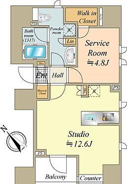 中古マンション-中央区銀座8丁目 44.55m2、Studio+Sタイプ