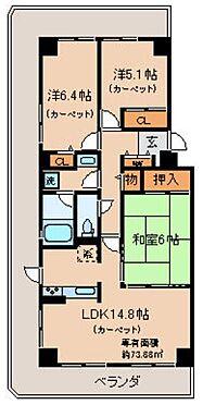 マンション(建物一部)-京都市北区大北山長谷町 広々3面バルコニー