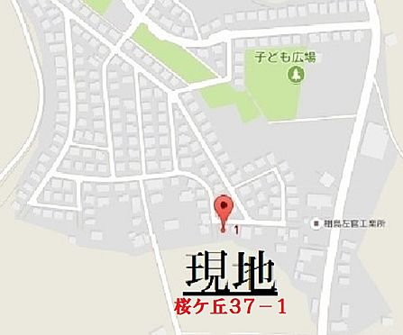 アパート-つくば市桜が丘 地図