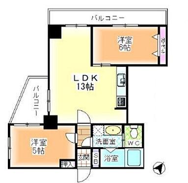 区分マンション-神戸市中央区山本通5丁目 間取り