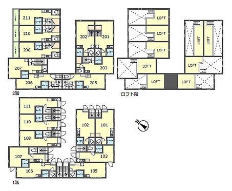 アパート-豊島区目白3丁目 間取図