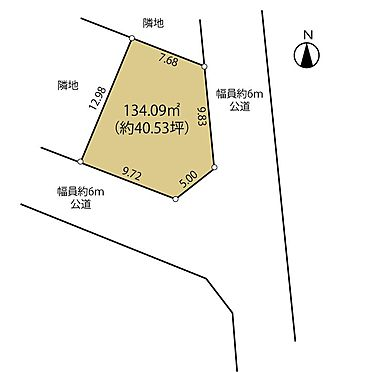 土地-町田市小山ヶ丘5丁目 区画図