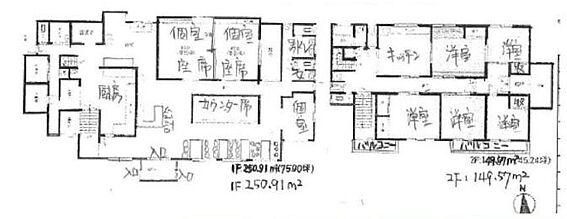 住宅付店舗(建物全部)-市原市牛久 間取り