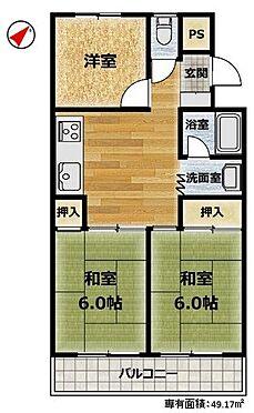 中古マンション-豊田市深田町1丁目 来客が多いご家庭におすすめ!和室2部屋の間取りです。