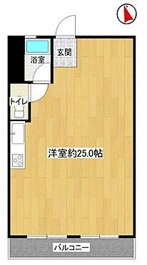区分マンション-名古屋市名東区明が丘 ワンルームの間取りです。間仕切りがない為リフォームやリノベーションもスムーズに行えます。
