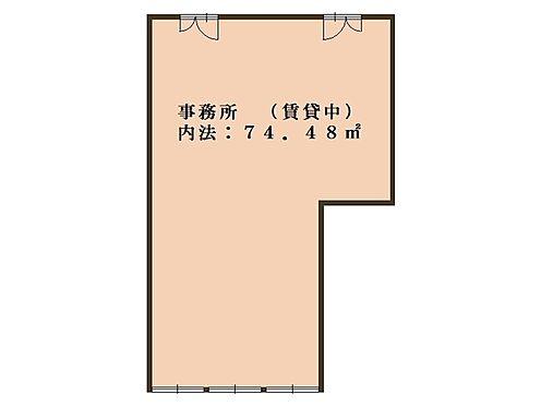 事務所(建物一部)-大阪市中央区谷町6丁目 間取り