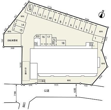 マンション(建物全部)-平塚市龍城ケ丘 敷地配置図