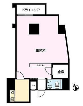 店舗事務所(建物一部)-新宿区西早稲田3丁目 間取り