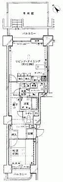 中古マンション-諏訪市渋崎 間取り