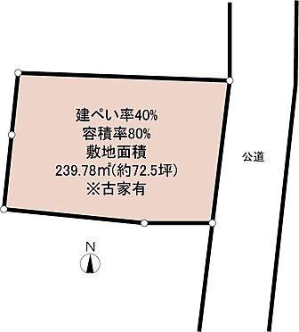 土地-八王子市南陽台2丁目 区画図