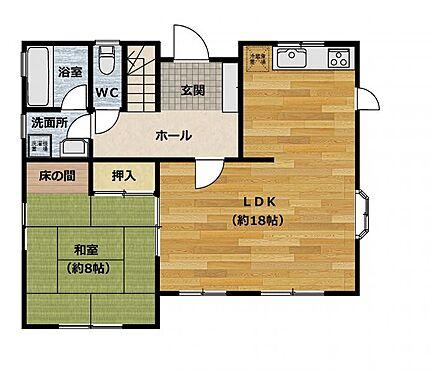 中古一戸建て-豊田市五ケ丘7丁目 1階間取り図