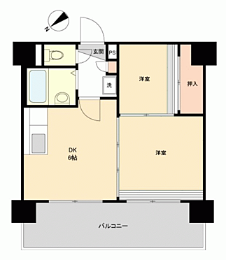 マンション(建物一部)-札幌市西区琴似一条1丁目 間取り