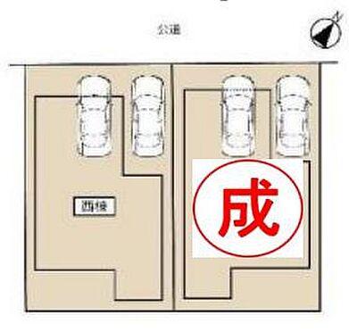 戸建賃貸-春日井市六軒屋町字松山 駐車並列2台可能!