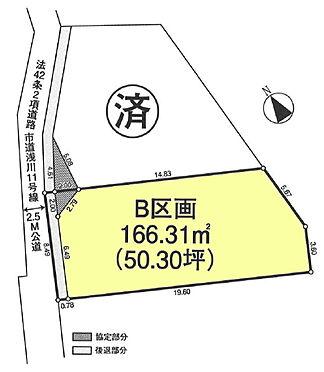土地-八王子市東浅川町 区画図