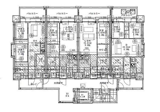 マンション(建物全部)-福岡市博多区麦野4丁目 2〜11階平面図