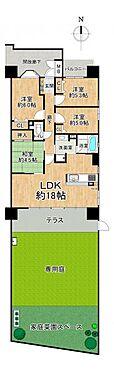 区分マンション-名古屋市中川区助光2丁目 専有面積約82平米4LDK!1階ならではの南向き専用庭付き☆LDK部分は床暖房になっております。