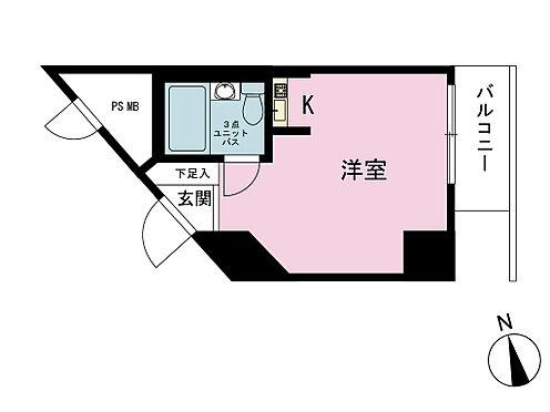 マンション(建物一部)-新宿区市谷薬王寺町 間取り