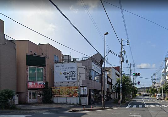 住宅付店舗-茂原市町保 道の奥に見えるのが駅です 徒歩約2分