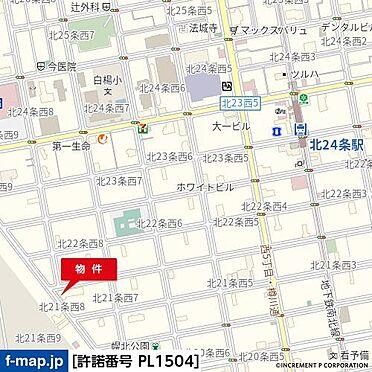 店舗(建物一部)-札幌市北区北二十一条西8丁目 地図
