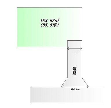 土地-仙台市泉区南光台4丁目 区画図