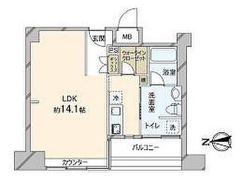 区分マンション-大阪市中央区内本町1丁目 間取り