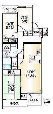 中古マンション-神戸市垂水区霞ケ丘6丁目 間取り