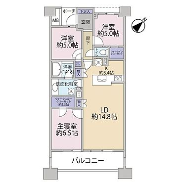 区分マンション-横浜市神奈川区橋本町2丁目 間取り