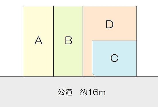 土地-仙台市青葉区中山4丁目 区画図