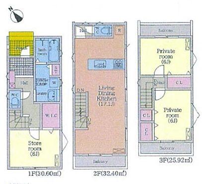 新築一戸建て-名古屋市昭和区折戸町3丁目 1号棟間取り
