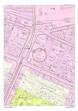 店舗事務所(建物全部)-立川市柴崎町3丁目 用途地域図