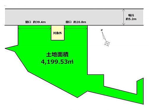 土地-仙台市太白区長嶺 区画図